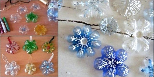 Tái chế chai nhựa thành đèn trang trí