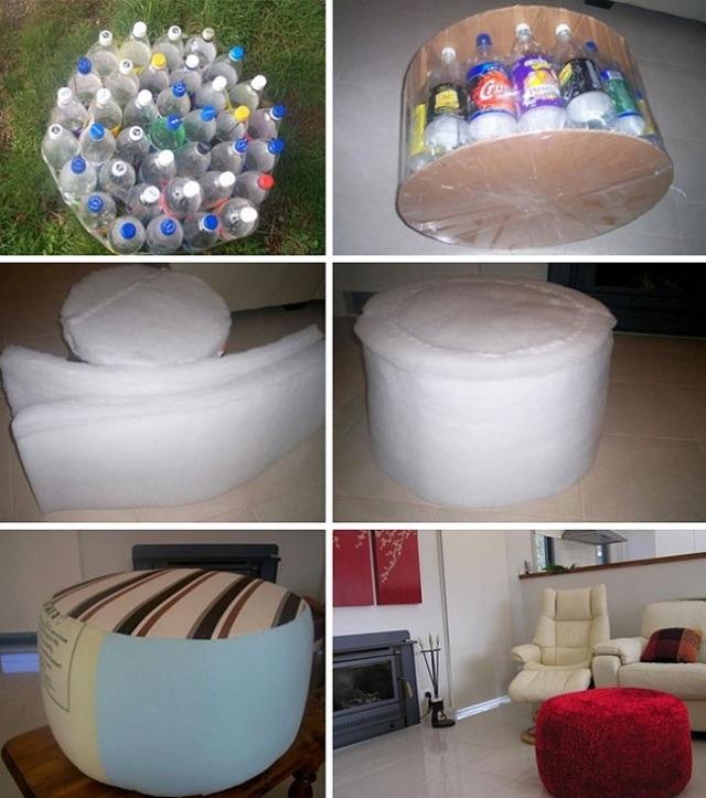 Làm ghế từ chai nhựa